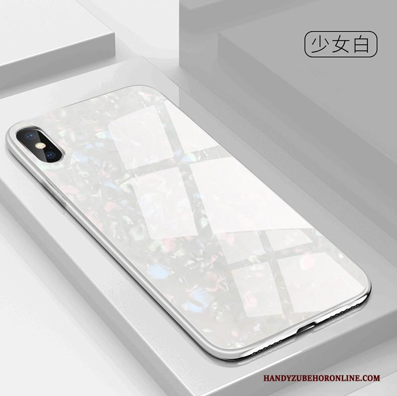 iPhone Xs All Inclusive Trendy Merk Siliconen Nieuw Glas Anti-fall Hoesje Telefoon