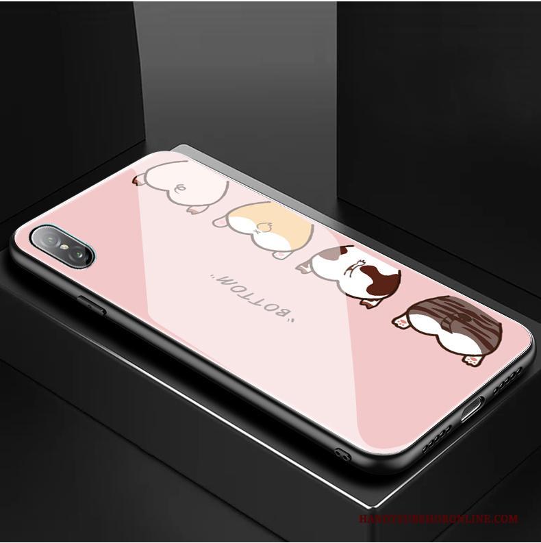 iPhone Xs Glas Bescherming Spotprent Anti-fall Purper Nieuw Hoesje Telefoon
