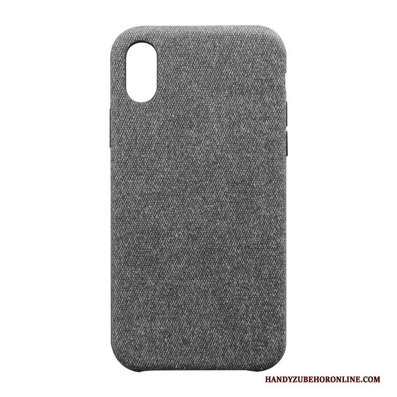 iPhone Xs Hoesje Bescherming Doek Mobiele Telefoon Accessoires Grijs Anti-fall Eenvoudige
