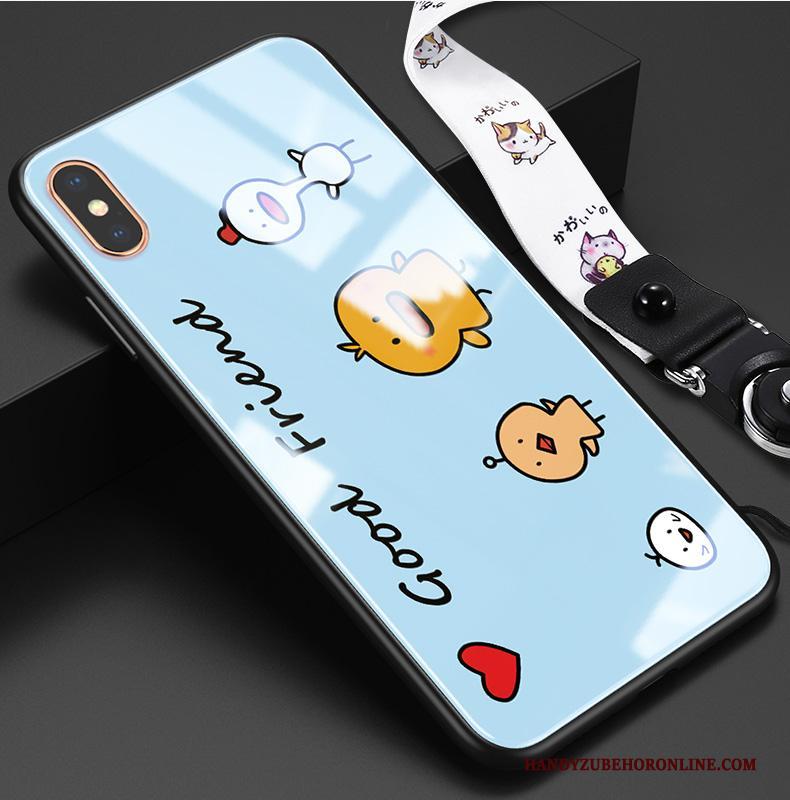 iPhone Xs Hoesje Blauw Kip All Inclusive Nieuw Dun Trendy Merk Hanger