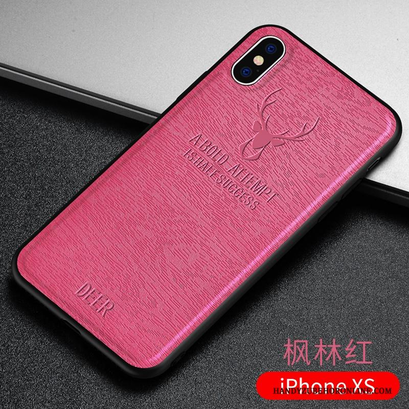 iPhone Xs Hoesje Telefoon All Inclusive Schrobben Roze Zacht Dun Bescherming