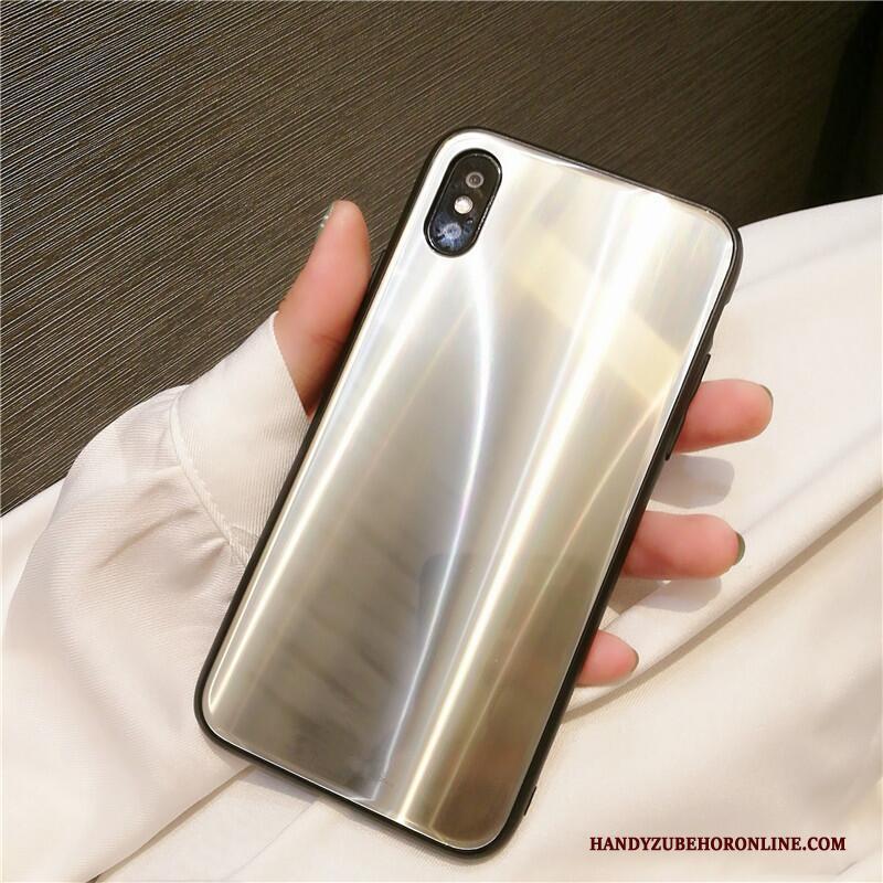 iPhone Xs Luxe Hoes Bescherming Hoesje Telefoon Lovers Rood Glas