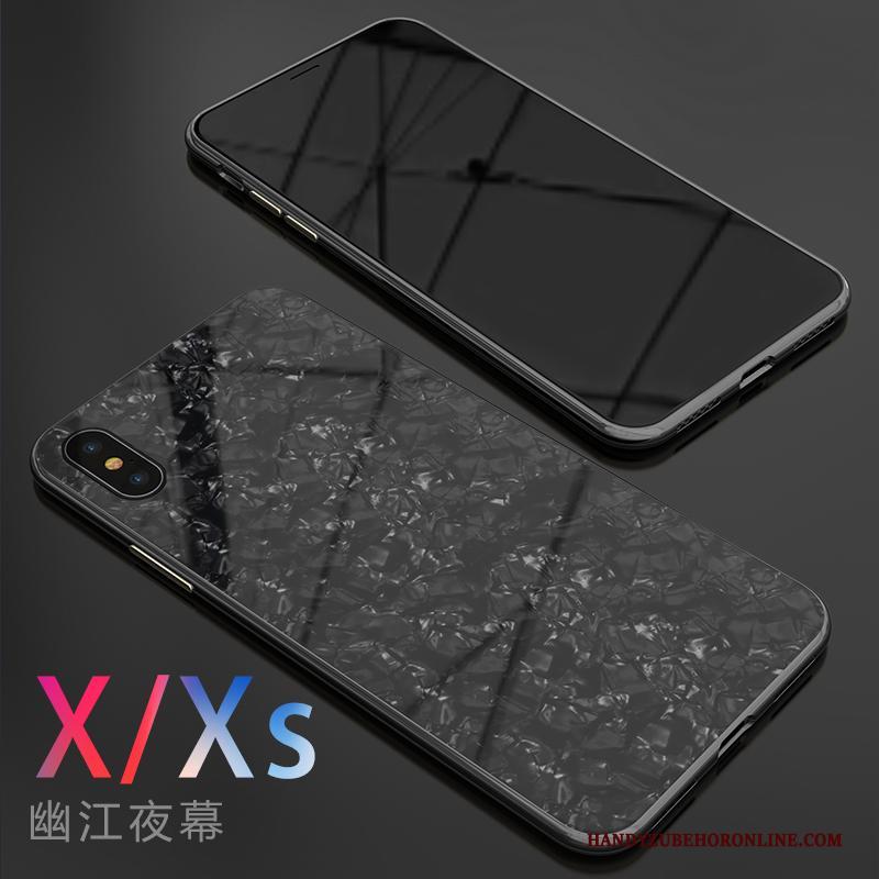 iPhone Xs Nieuw Persoonlijk Hoesje Telefoon Spiegel Scheppend Net Red Glas