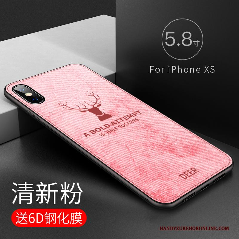 iPhone Xs Siliconen All Inclusive Anti-fall Patroon Hoes Trendy Merk Hoesje Telefoon