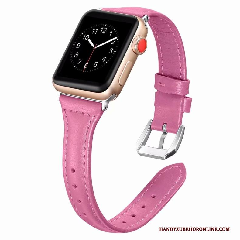 Apple Watch Series 2 Hoesje Fijne Roze Echt Leer