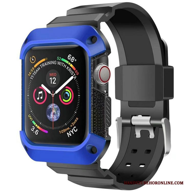 Apple Watch Series 4 Hoesje Pantser Sport Anti-fall Blauw Bescherming