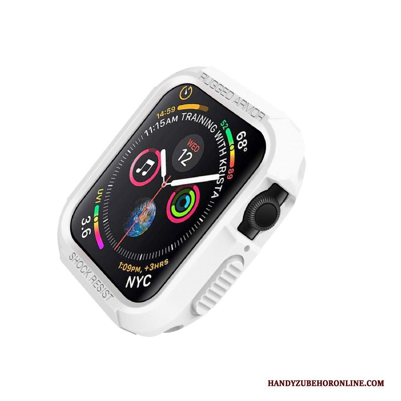 Apple Watch Series 4 Wit Siliconen Bescherming Anti-fall Hoes Hoesje