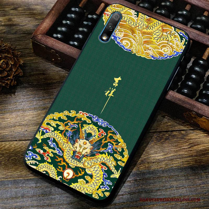 Honor 9x Hoesje Hoes Anti-fall Chinese Stijl Bescherming Vintage Pas Patroon