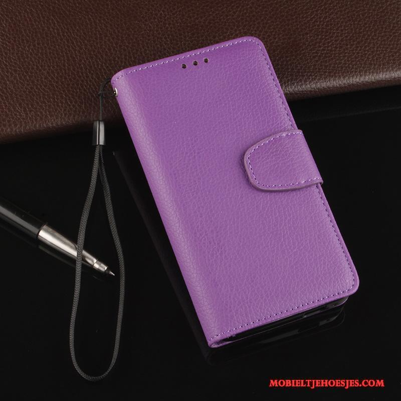 Htc One M7 Anti-fall Purper Hoesje Telefoon All Inclusive Leren Etui Folio Zacht