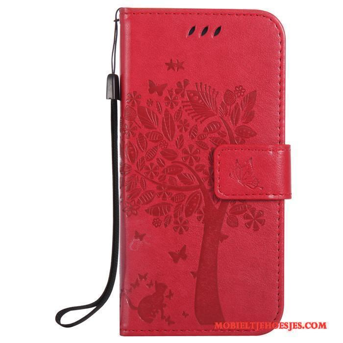 Htc One M9 Rood Hoesje All Inclusive Leren Etui Mobiele Telefoon Anti-fall Siliconen