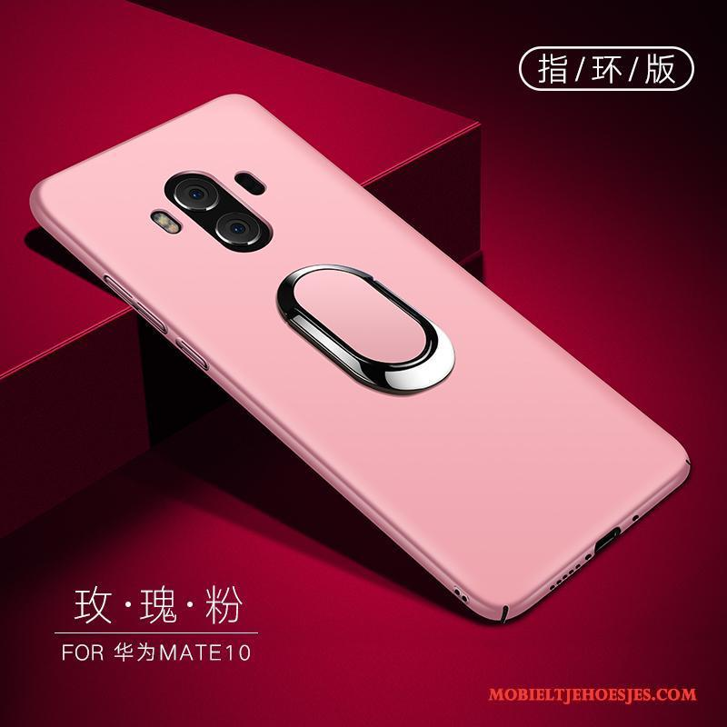 Huawei Mate 10 Hoesje Trend Hoes Roze Bescherming Ring Hard All Inclusive
