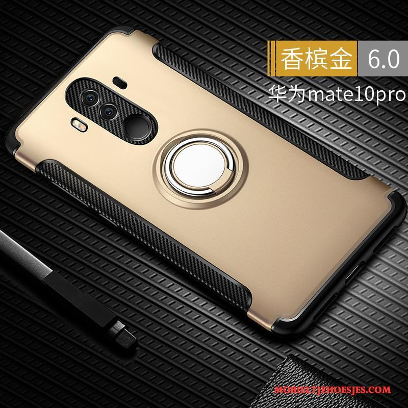 Huawei Mate 10 Pro All Inclusive Hoesje Telefoon Goud Anti-fall Siliconen Scheppend