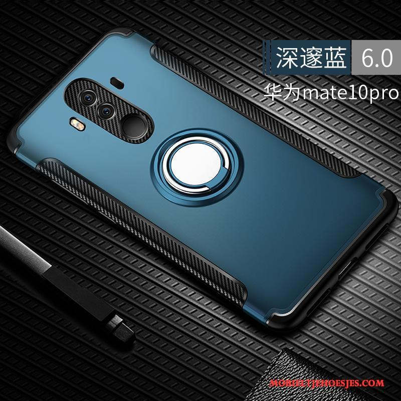 Huawei Mate 10 Pro Anti-fall Siliconen Hoes Blauw All Inclusive Hoesje Telefoon Scheppend