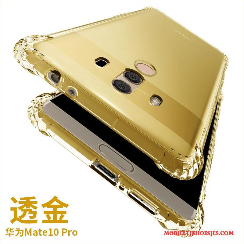 Huawei Mate 10 Pro Siliconen Gasbag All Inclusive Anti-fall Zacht Hoesje Telefoon Goud