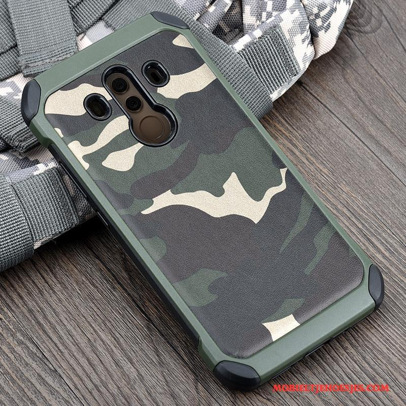Huawei Mate 10 Pro Siliconen Groen Bescherming Anti-fall Camouflage Hoesje All Inclusive