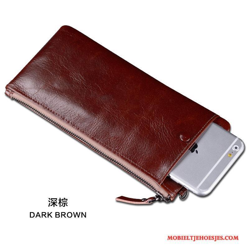 Echt Leren Portemonnee.Huawei Mate S Bescherming Hoesje Telefoon Portemonnee Mobiele