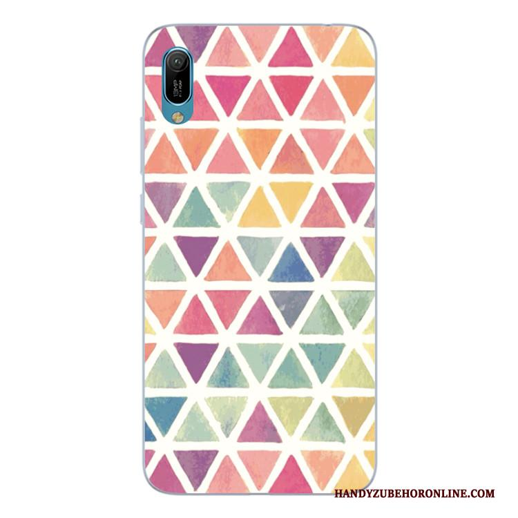 Huawei P Smart+ 2019 Hoesje Abstract Kleur Telefoon Scheppend All Inclusive Siliconen