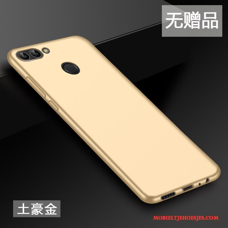 Huawei P Smart All Inclusive Siliconen Hoes Hoesje Telefoon Anti-fall Goud Scheppend