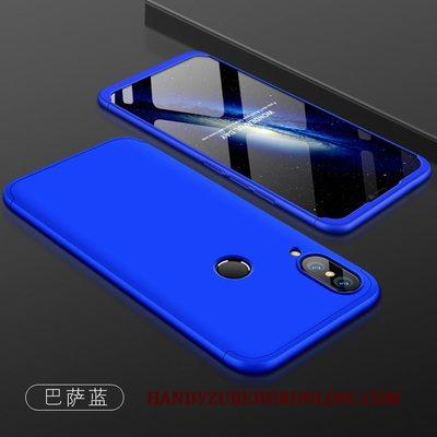 Huawei P Smart+ Hoesje Blauw Hoes All Inclusive Scheppend Schrobben Jeugd Anti-fall