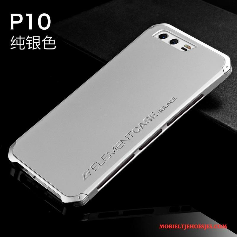 Huawei P10 Hard Siliconen All Inclusive Hoes Hoesje Anti-fall Metaal