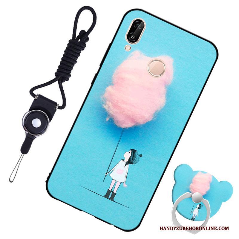 0af14951d13 Huawei P20 Lite Hoesje Siliconen Bescherming Mobiele Telefoon Blauw