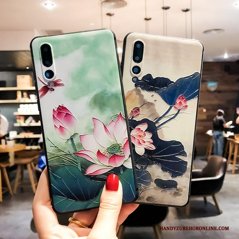 Huawei P20 Pro Ring Scheppend Zacht All Inclusive Hoesje Groen Anti-fall