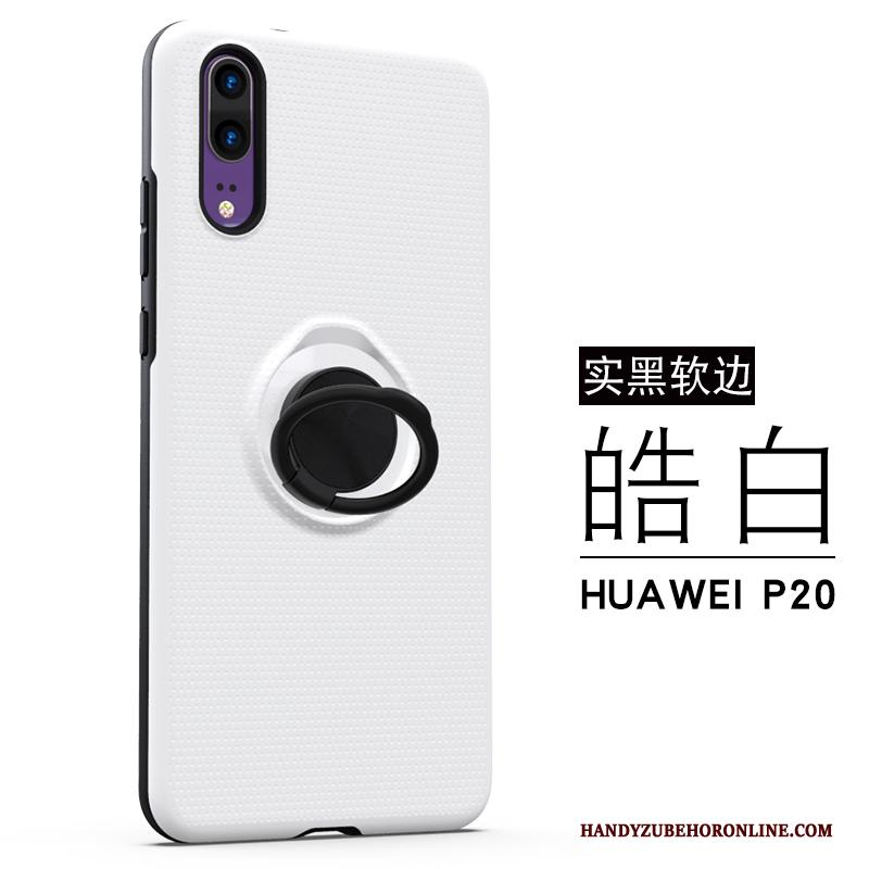 Huawei P20 Ring Wit Zacht All Inclusive Trend Anti-fall Hoesje
