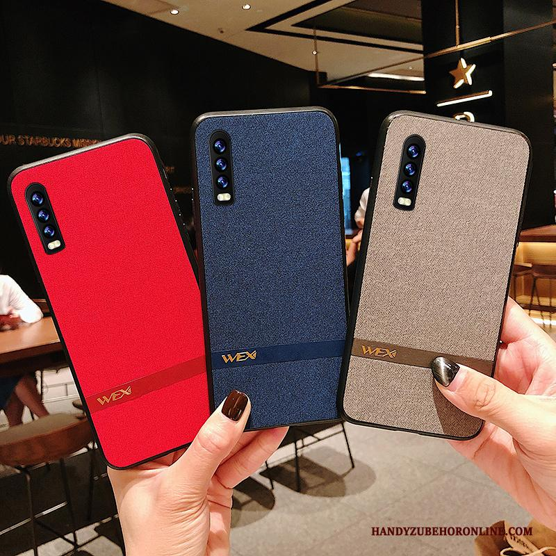 Huawei P30 Dun All Inclusive Rood Siliconen Hoesje Telefoon Patroon Net Red