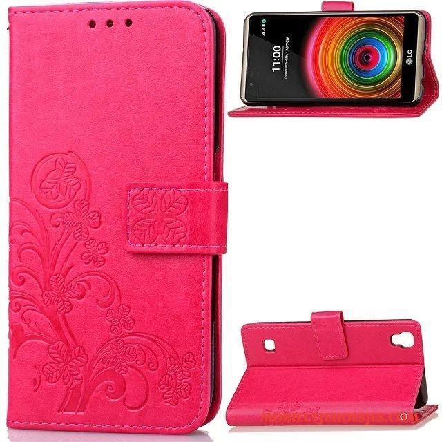 Lg X Power Hoesje Bescherming Scheppend Trendy Merk Mobiele Telefoon Folio Rood