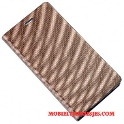Redmi Note 5 Hoesje Hard Rood Pas Goud Mini Folio