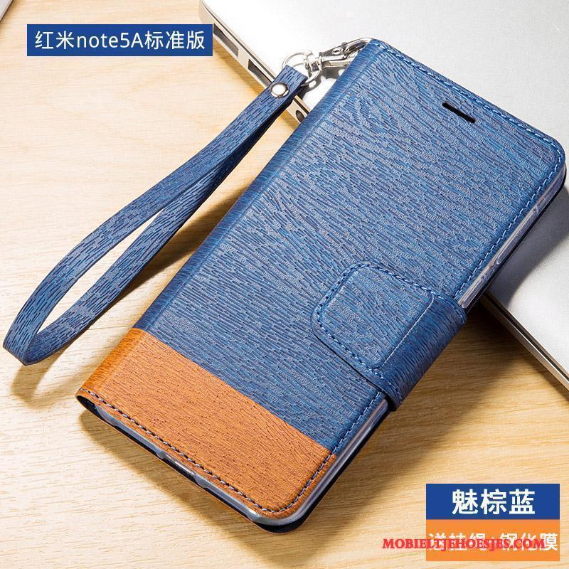 Redmi Note 5a Hoesje Leren Etui Anti-fall Hoes All Inclusive Rood Folio Hoge