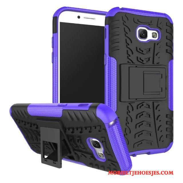 Samsung Galaxy A3 2017 Hoesje Purper Hoes All Inclusive Ondersteuning Anti-fall Trend Bescherming