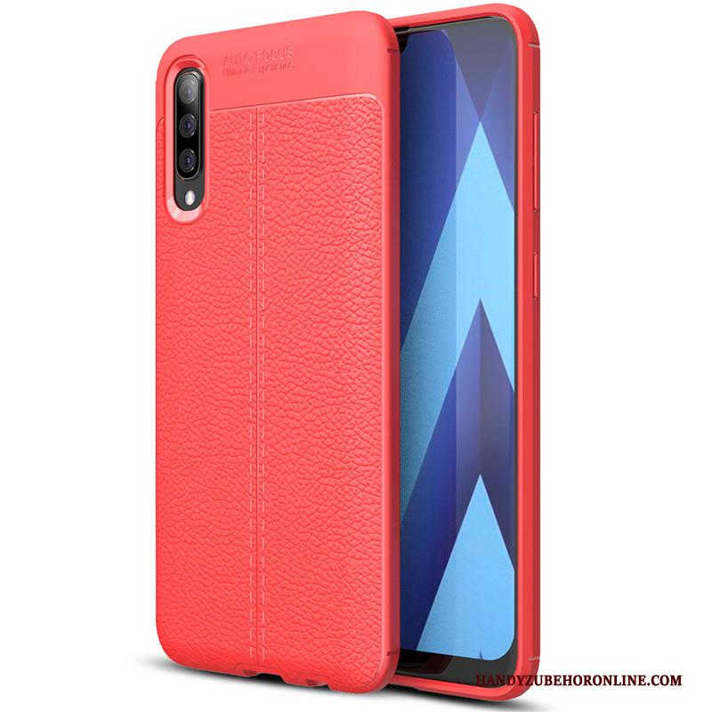 Samsung Galaxy A30s All Inclusive Hoesje Telefoon Siliconen Patroon Zacht Rood Ster