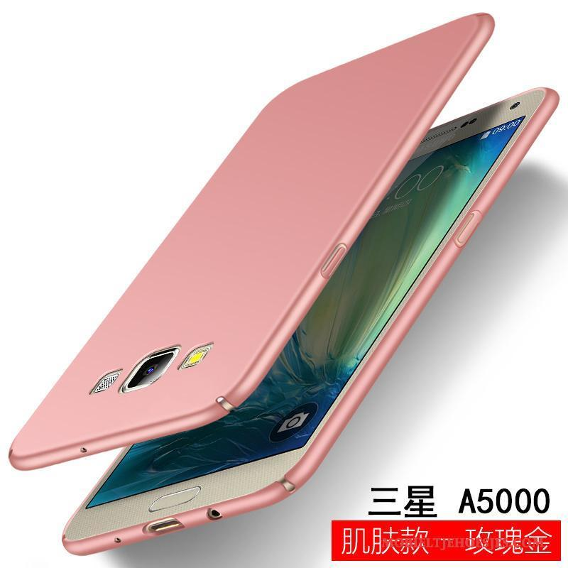 Samsung Galaxy A5 2015 Siliconen Mooie Anti-fall Trend Rose Goud Ster Hoesje Telefoon