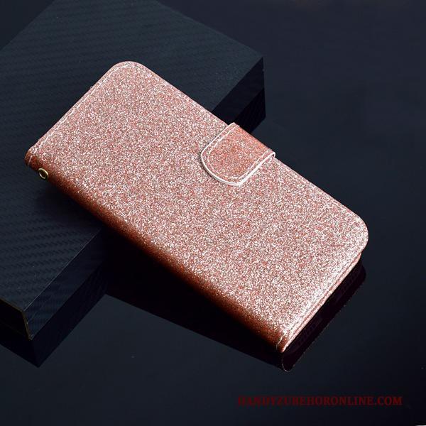 Roze Portemonnee.Samsung Galaxy A6 Hoesje Ster Hanger Hoes Anti Fall Leren Etui Roze