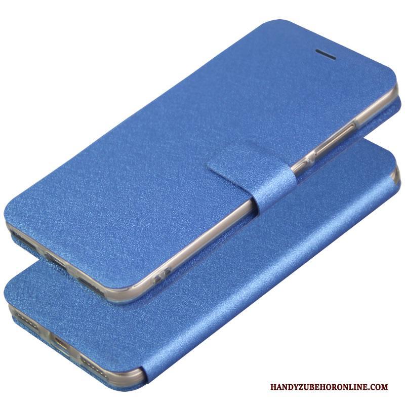 Samsung Galaxy A60 Hoesje Blauw Telefoon Folio Leren Etui Magneet Sluit Mobiele Telefoon