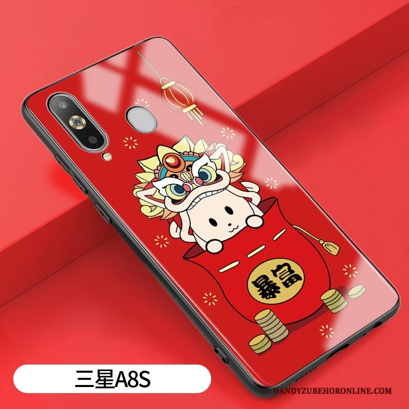 Samsung Galaxy A8s Hoesje Hoes Lovers Anti-fall Rat Trend Glas All Inclusive