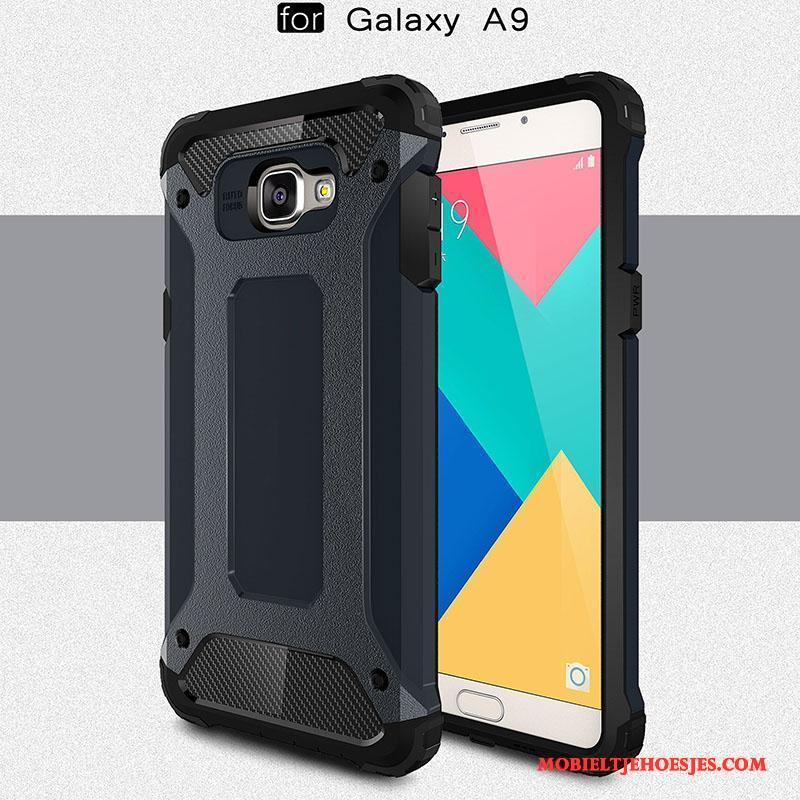 Samsung Galaxy A9 Hoes Bescherming Siliconen All Inclusive Mesh Hoge Hoesje Telefoon