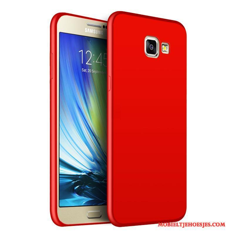 Samsung Galaxy A9 Hoesje All Inclusive Trend Hoge Rood Hoes Bescherming Ster