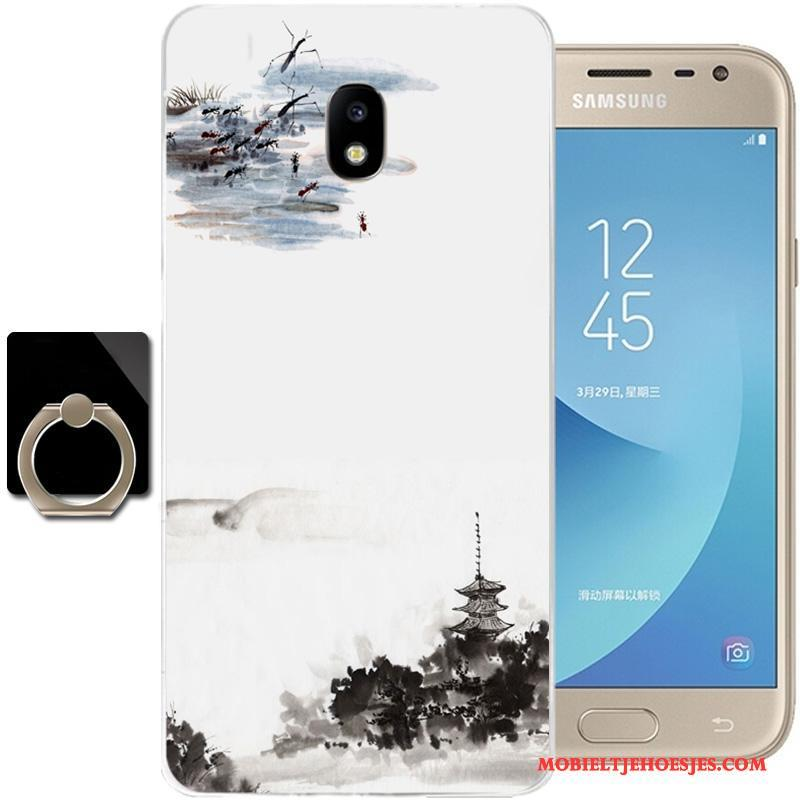 Samsung Galaxy J3 2017 Bescherming Hoesje Telefoon All Inclusive Siliconen Chinese Stijl Ster Zacht