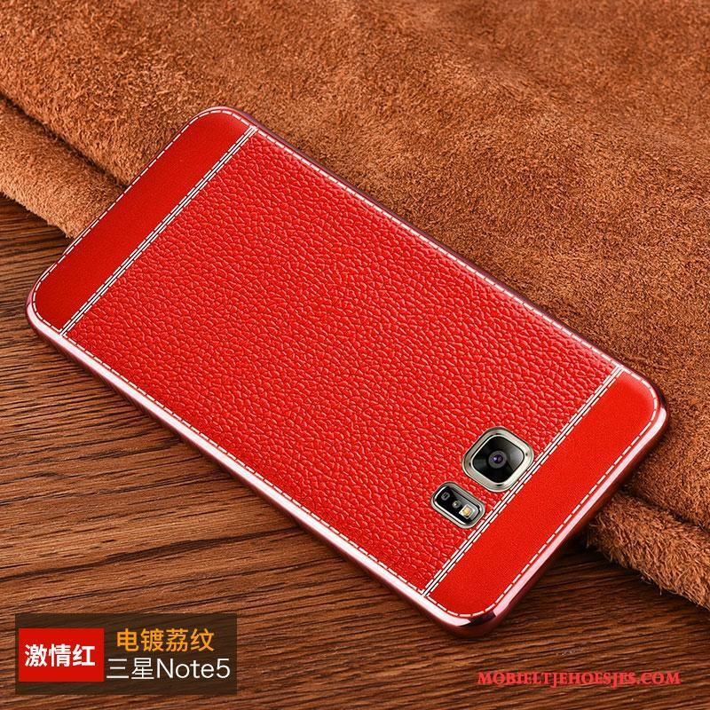 Samsung Galaxy Note 5 Hoesje Mobiele Telefoon Hoes Anti-fall Zacht All Inclusive Plating Patroon