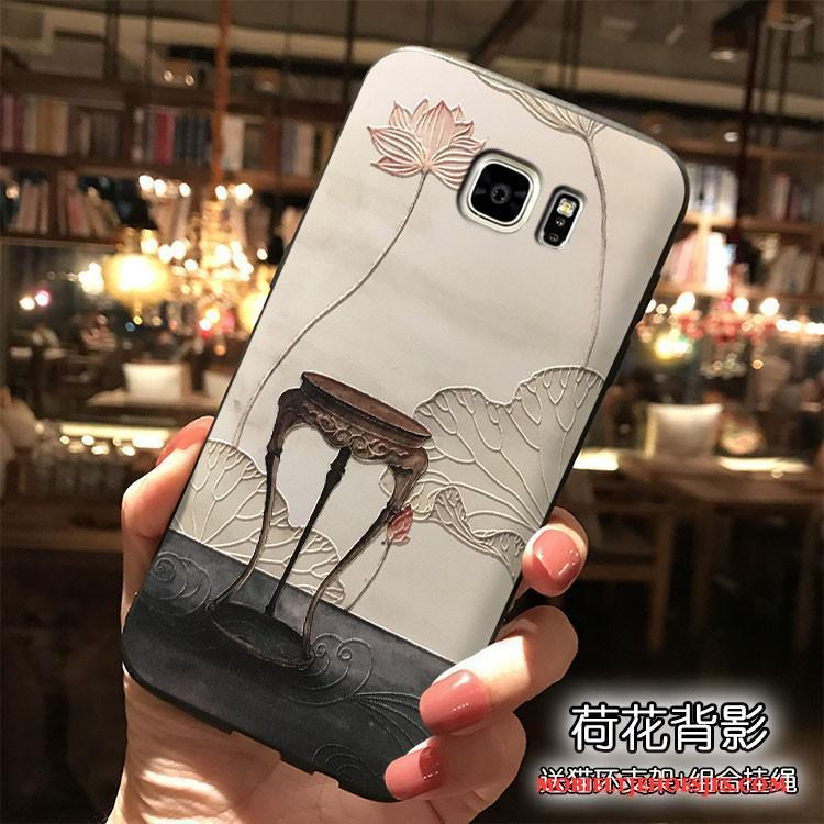 Samsung Galaxy Note 5 Ster Bloemen Wit All Inclusive Anti-fall Chinese Stijl Hoesje
