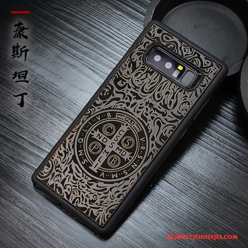 Samsung Galaxy Note 8 Hoesje Telefoon Chinese Stijl Bescherming Siliconenhoesje Anti-fall All Inclusive Ster