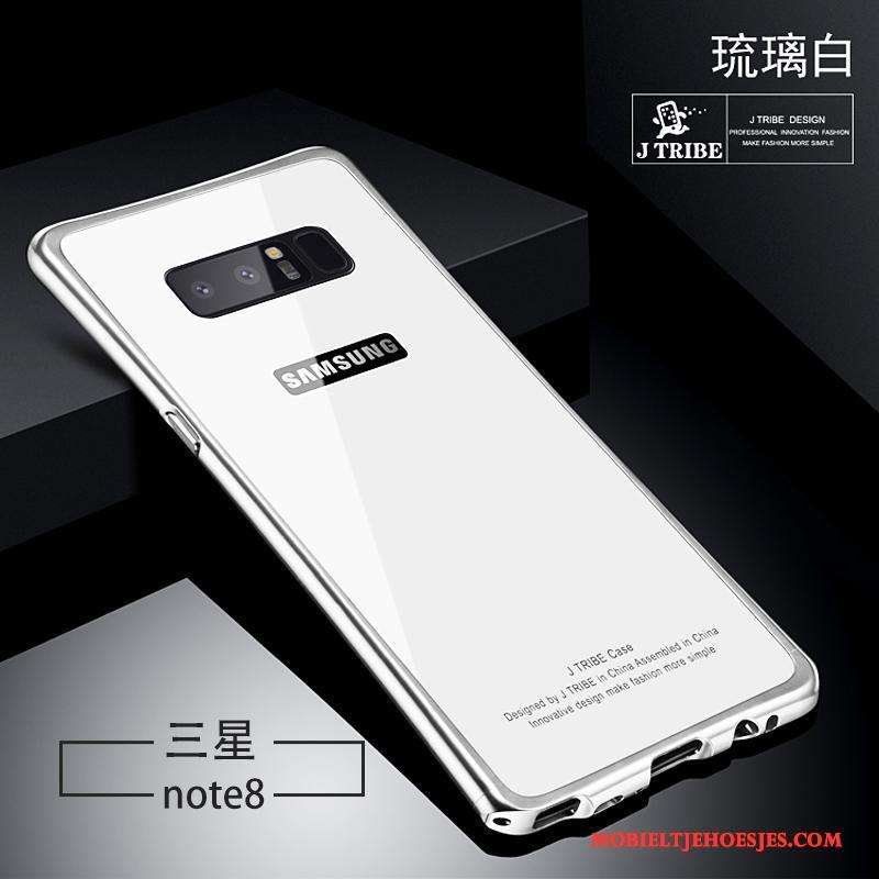 Samsung Galaxy Note 8 Scheppend Hoesje Glas Wit Anti-fall Persoonlijk All Inclusive