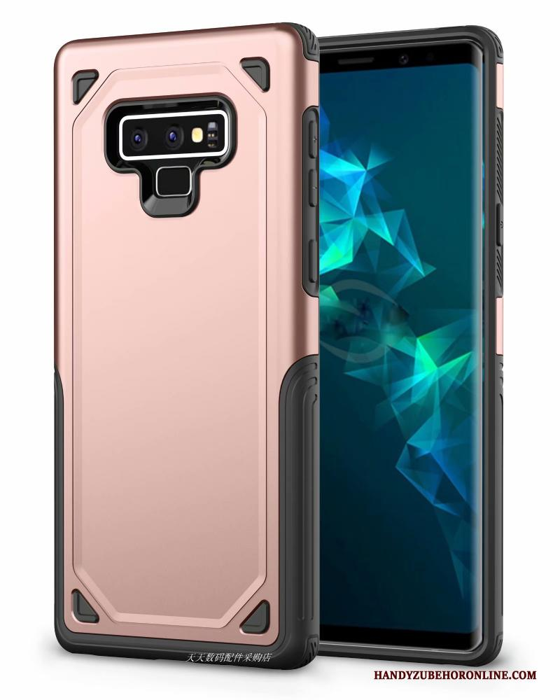 Samsung Galaxy Note 9 Hoesje Telefoon Ster Siliconen All Inclusive Rose Goud Bescherming Europa