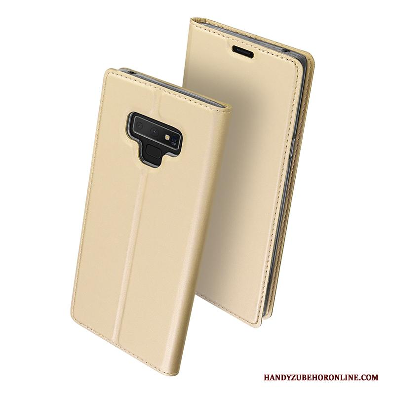 Samsung Galaxy Note 9 Hoesje Zacht Clamshell Siliconen Goud Telefoon All Inclusive
