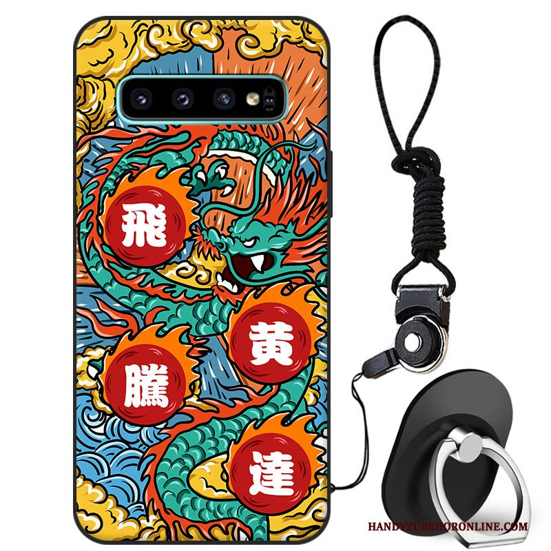 Samsung Galaxy S10 Hoesje Anti-fall Chinese Stijl Siliconen Bescherming Hoes Persoonlijk Ster