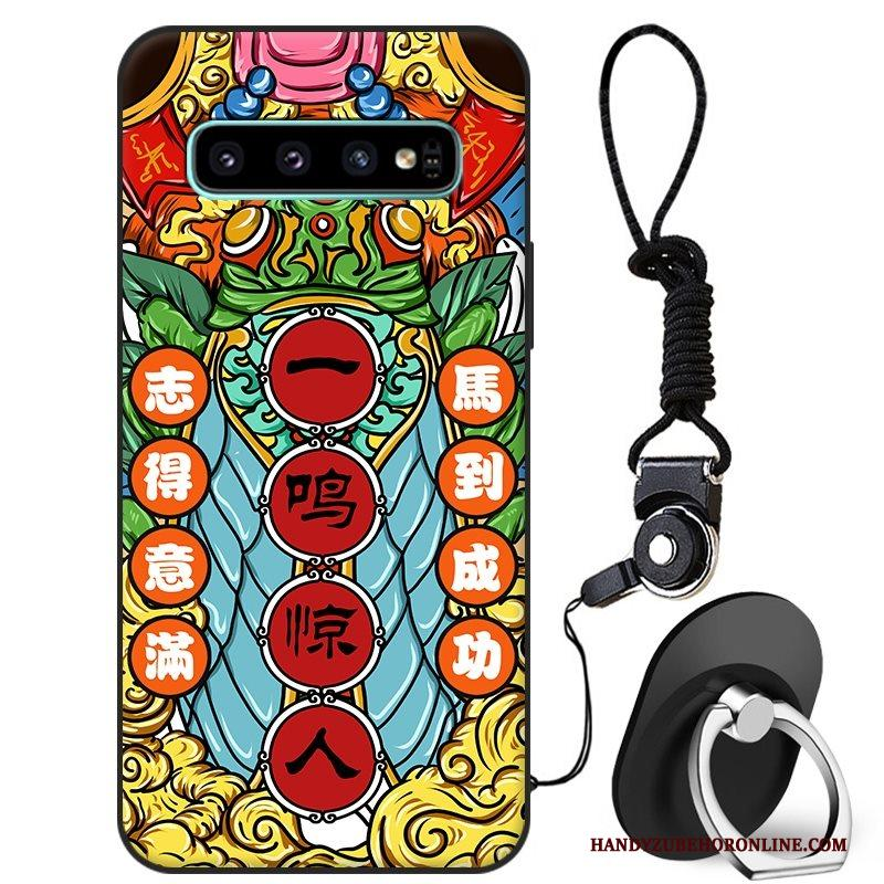 Samsung Galaxy S10+ Hoesje Bescherming Hoes Kleur Ster All Inclusive Chinese Stijl Anti-fall