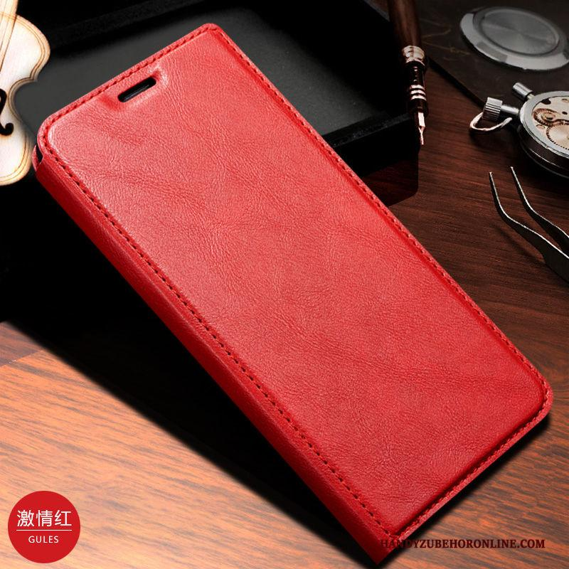 Samsung Galaxy S20 Hoesje Folio All Inclusive Bescherming Echt Leer Hoes Rood Ster