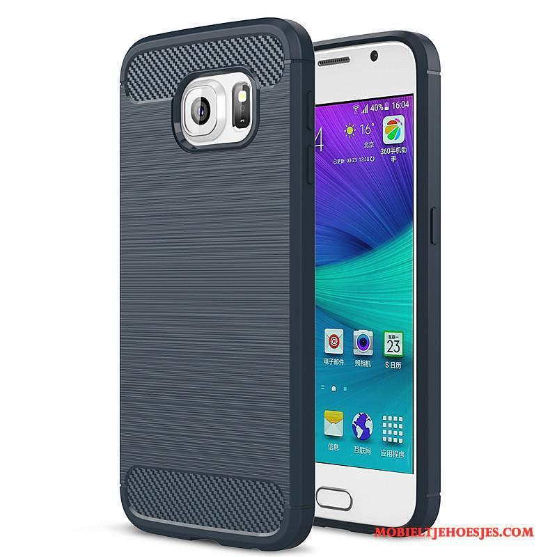 Samsung Galaxy S6 All Inclusive Bescherming Blauw Ster Mobiele Telefoon Hoesje Siliconen